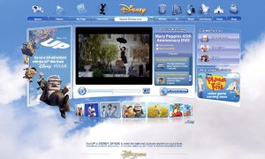 Homepage for all of Disney